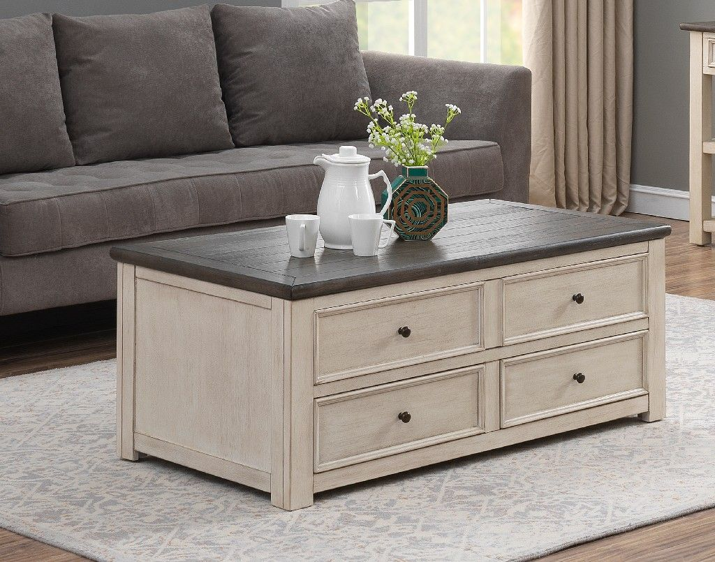 St. Claire Two Drawer Lift Top Cocktail Table in St