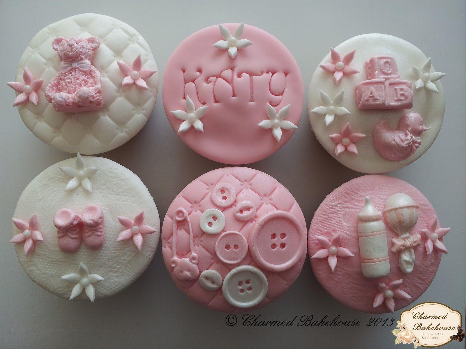 Baby girl cupcakes Baby shower Pinterest Baby girl cupcakes