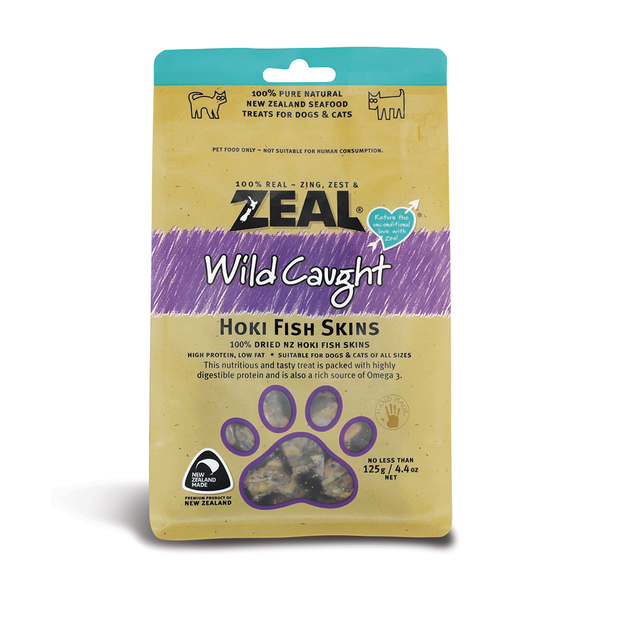 Zeal Free Range Natural Treats Fish Skins Pet Circle Natural Treat Pet Food Packaging Jerky Treats