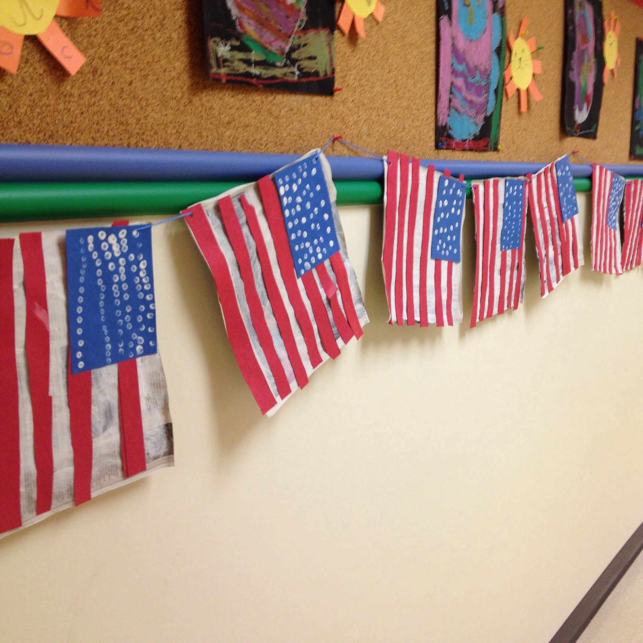 American Flag Preschool Craft