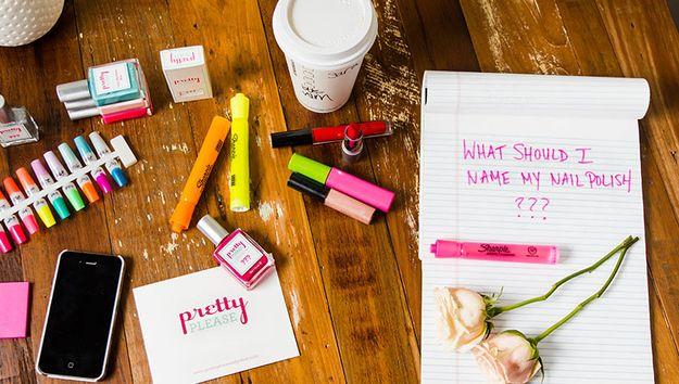 Modern Wedding Gifts: Customizable Nail Polish