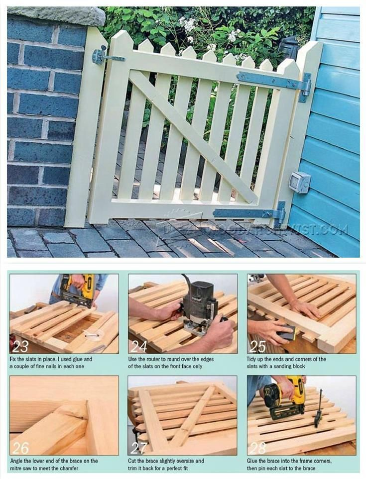 Wooden Garden Gates Plans Outdoor Plans And Projects Woodarchivist Com Wooden Garden Gate Wooden Garden Garden Gates