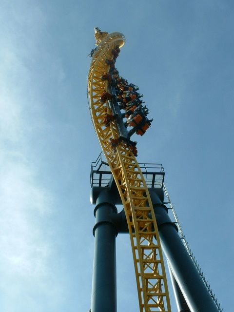 Vertical Velocity Photo From Six Flags Great America Theme Parks Rides Roller Coaster Ride Great America