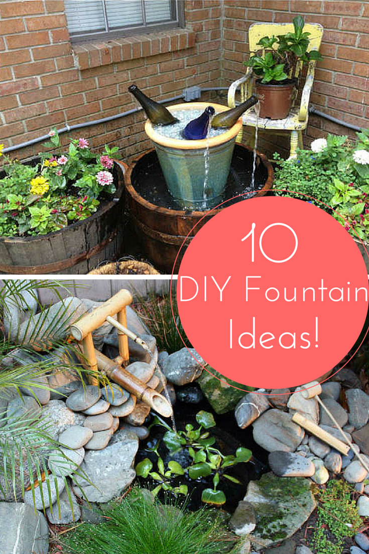 10 Inventive Designs For A DIY Garden Fountain DIY Projects Bob
