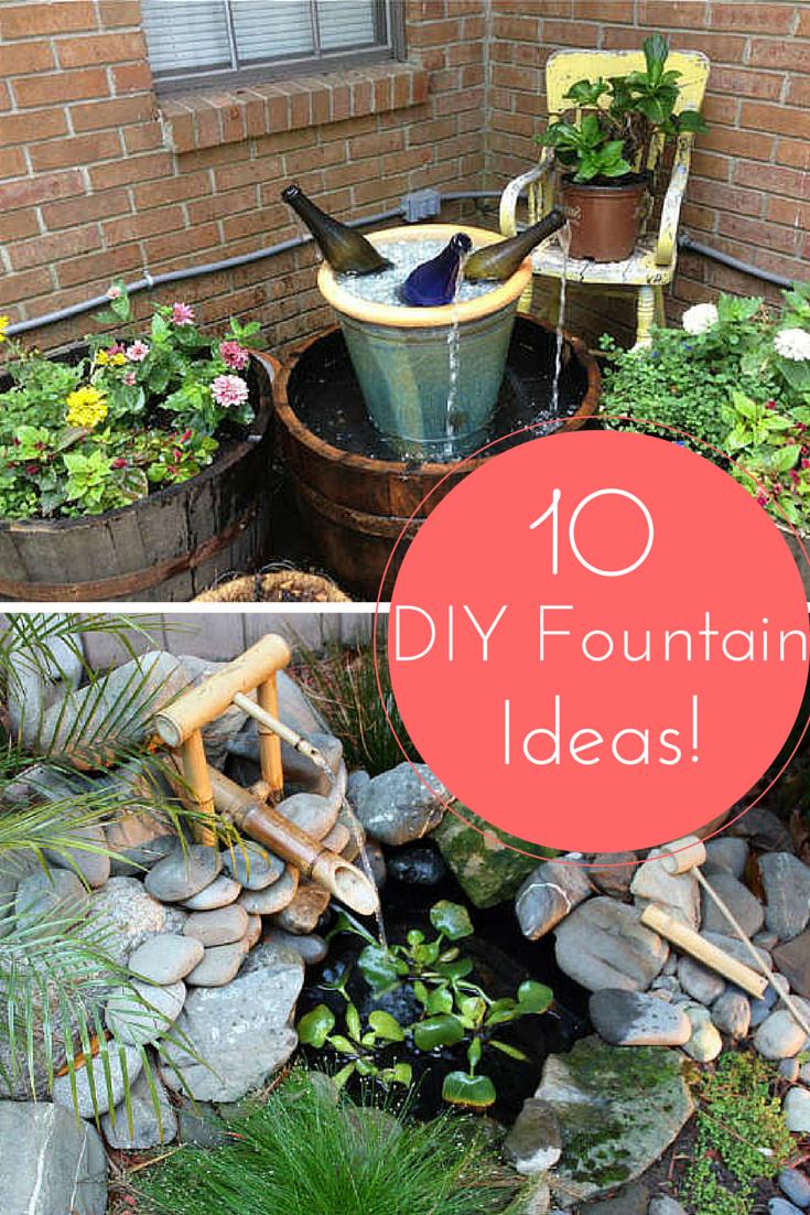 10 Inventive Designs For A Diy Garden Fountain Diy Garden