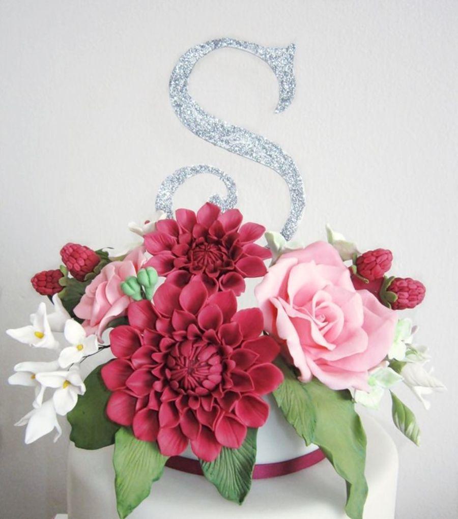 flower cake , dahlia and rose