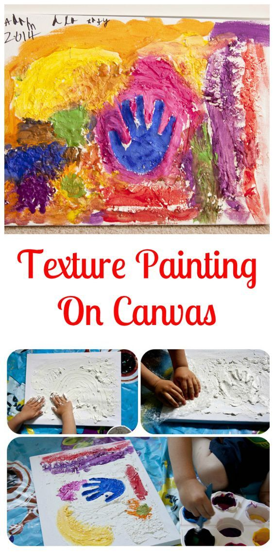 Texture painting on canvas.