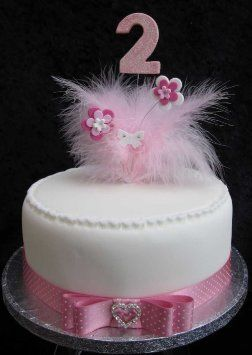 2nd Birthday Cake Topper With Pale Pink Glittered Number And Marabou Feathers Flowers Butterfly Amazoncouk Kitchen Home