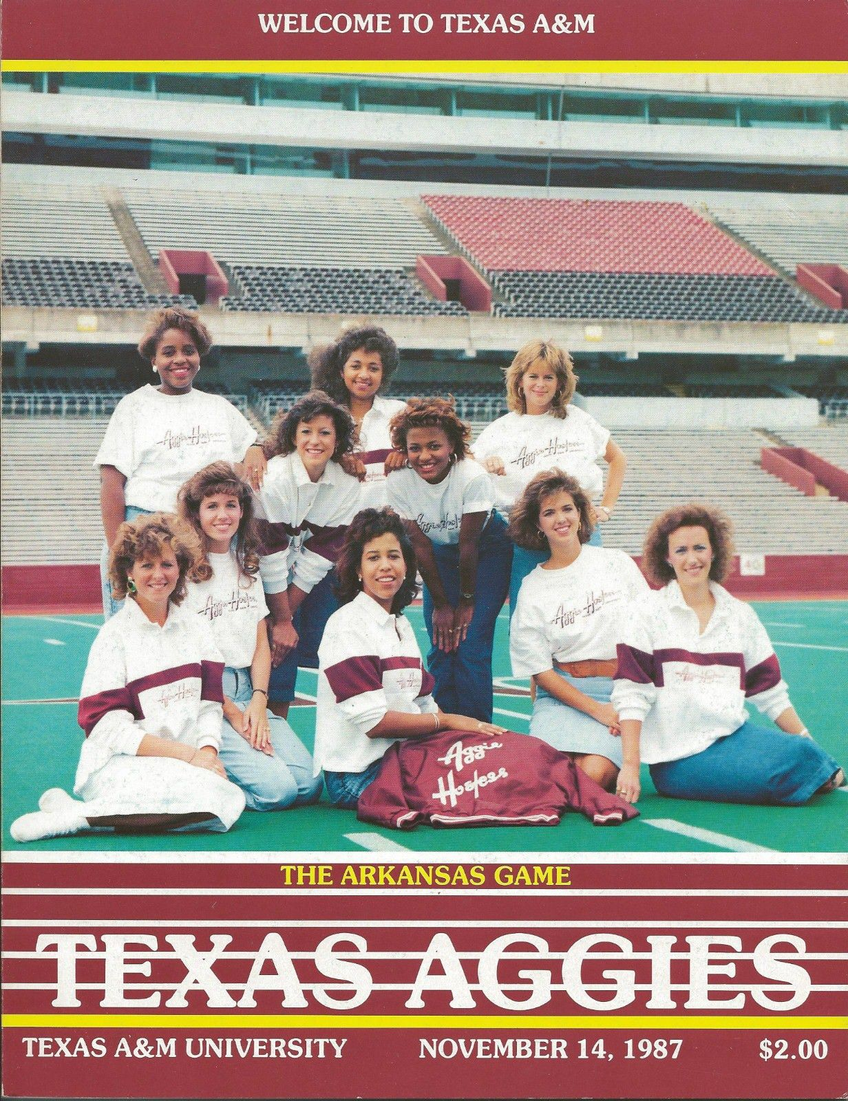 1987 Game Program between Texas A&M vs Arkansas at Kyle