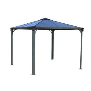 Palram Martinique 4300 14 Ft X 10 Ft Aluminum Frame Rectangle Gazebo 702564 The Home Depot In 2020 Aluminum Gazebo Hardtop Gazebo Gazebo