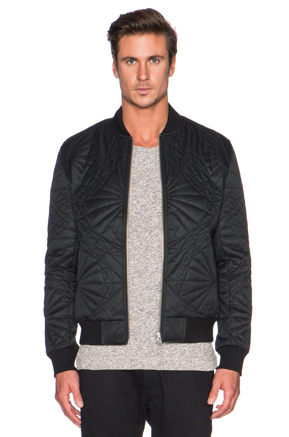 Black Scale Shapes Jacket in Black  2475afb6e61