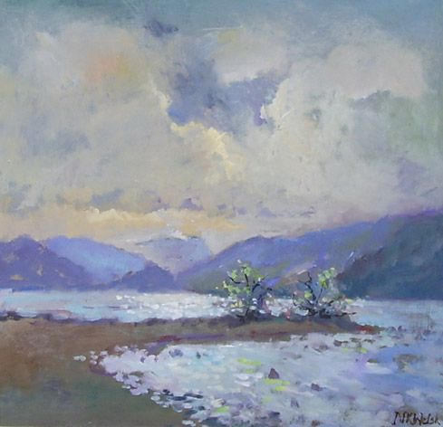 A Painting Of Derwentwater In The Lake District Landscape Paintings Painting Lake Painting