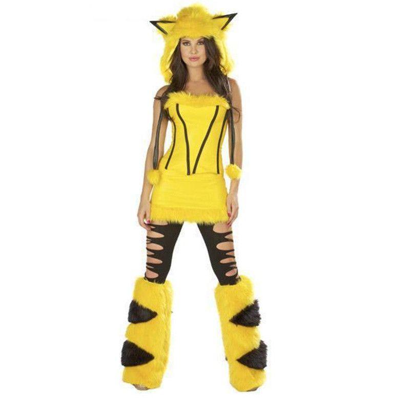 Fashion Pikachu Costume Plush Cartoon Temptations Halloween Party Joker Costume Cosplay Halloween Costumes For Women  sc 1 st  Pinterest & Fashion Pikachu Costume Plush Cartoon Temptations Halloween Party ...