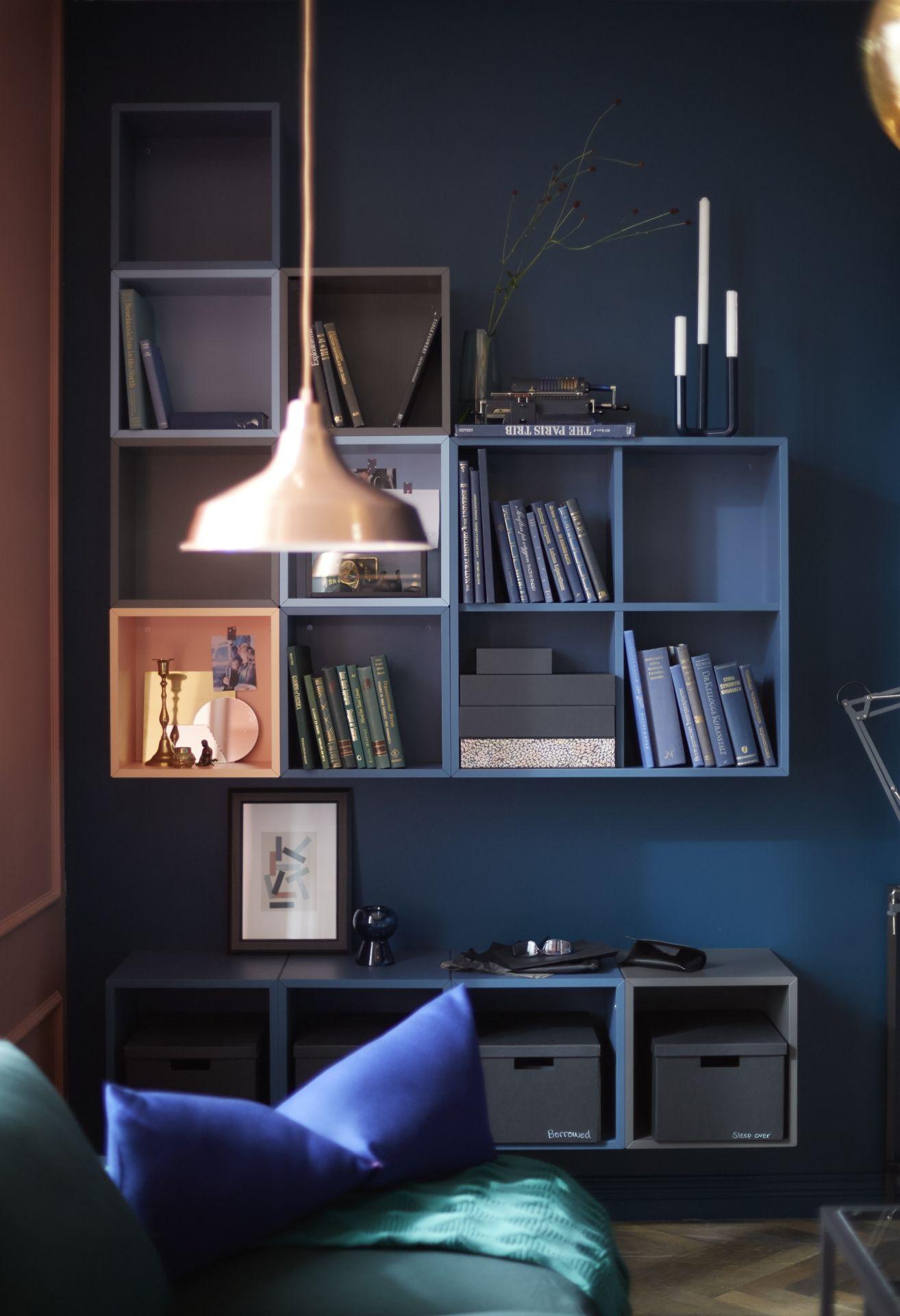 eket kastencombinatie voor wandmontage veelkleurig wall mount ikea eket and interiors. Black Bedroom Furniture Sets. Home Design Ideas