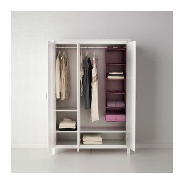 IKEA BRUSALI wardrobe with 3 doors Adjustable hinges ensure that the ...