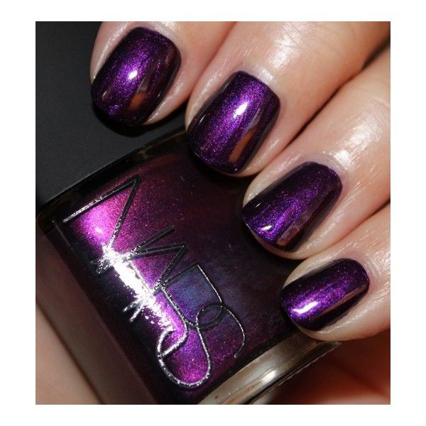 NARS Purple Rain Nail Polish Swatches Review ❤ liked on Polyvore ...