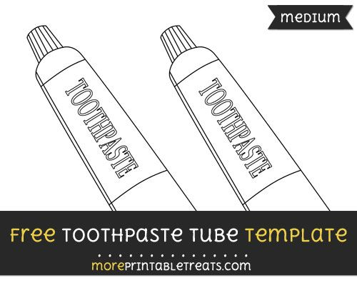 Free Toothpaste Tube Template Medium