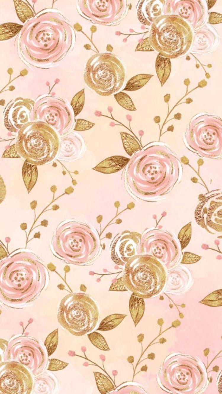 Pinterest Brittttx0 Flower Phone Wallpaper Gold Wallpaper