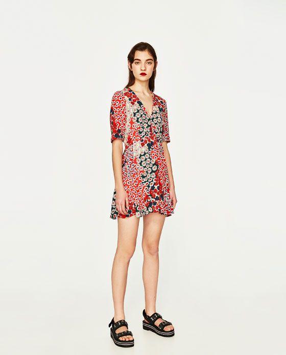 84a03ab21f0 ZARA - WOMAN - DAISIES DRESS Robe Marguerite