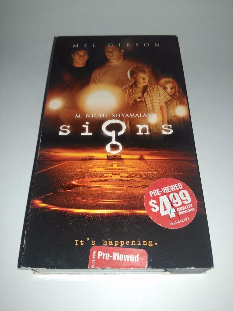 M. Night Shyamalans, Signs (VHS, 2003) Staring Mel Gibson
