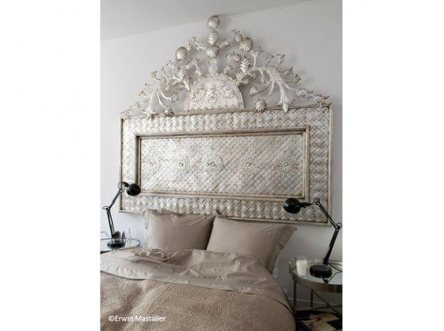 chambre princesse tete de lit luxe dore argent. Black Bedroom Furniture Sets. Home Design Ideas
