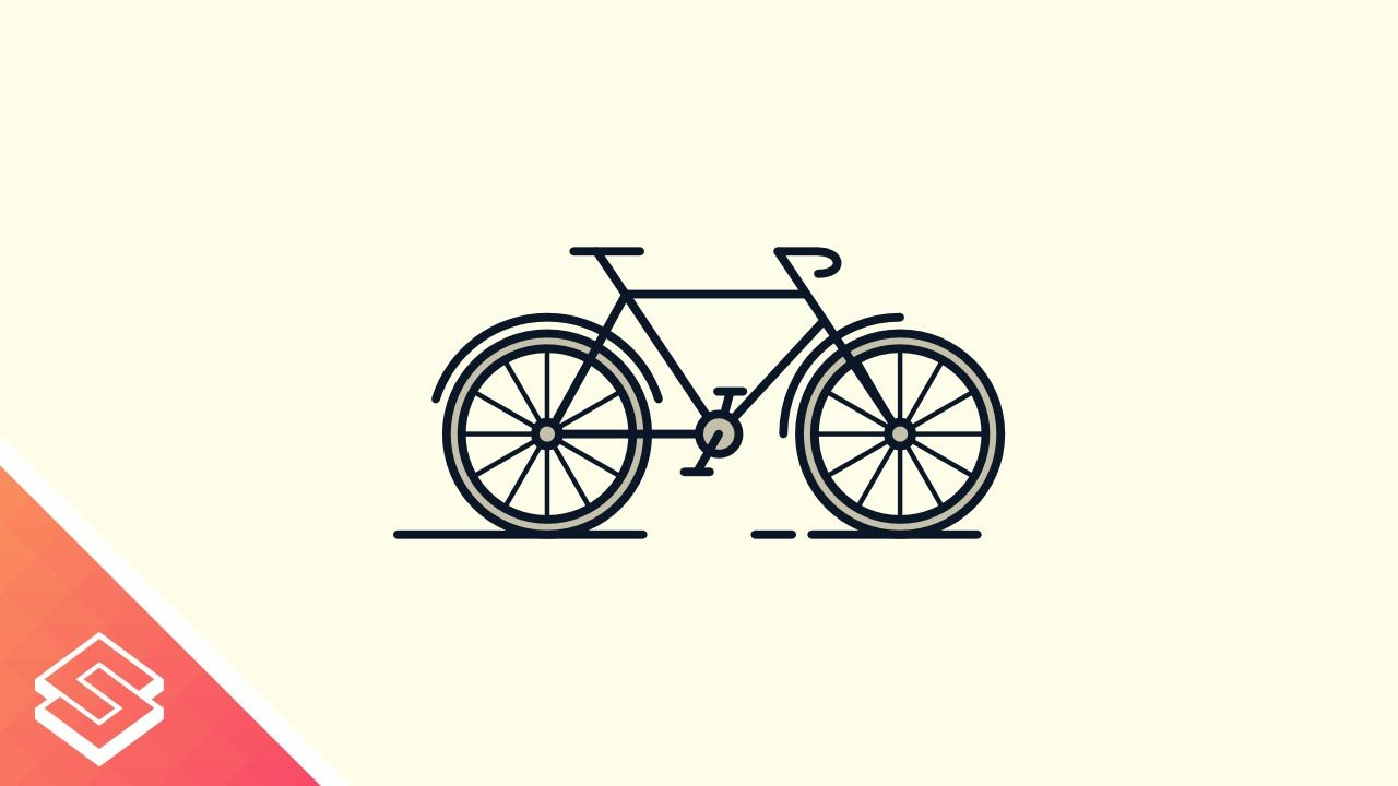 Inkscape For Beginners Bicycle Icon Custom Logo Design Flat