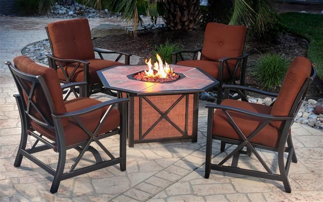 Patio Furniture Sets With Gas Fire Pit Pinteres