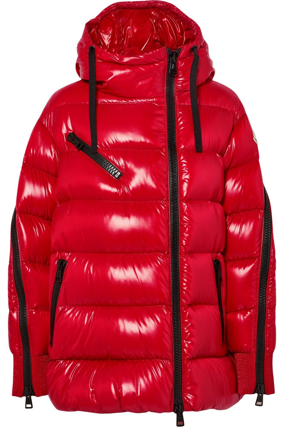 Moncler Liriope hooded quilted glossedshell down jacket