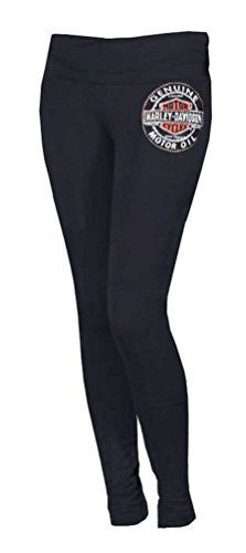 8a65db4d7d Harley-Davidson Women's Leggings, Embellished Bar & Shield, Black HDB-202B
