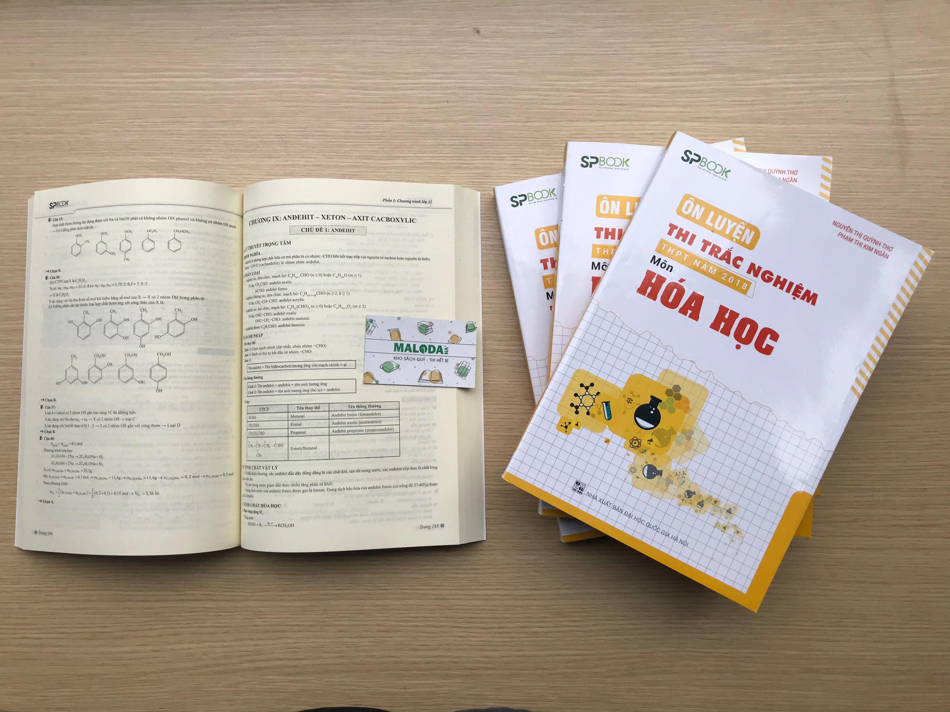 Sách Ôn luyện thi trắc nghiệm môn hóa