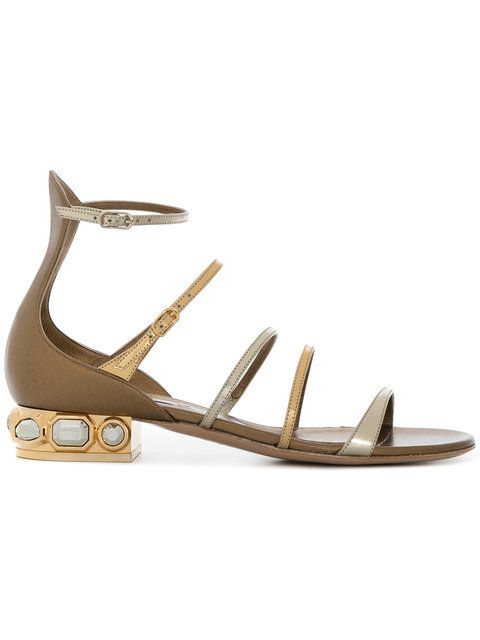 Casadei Embellished gladiator sandals 5Kzb5k4fd