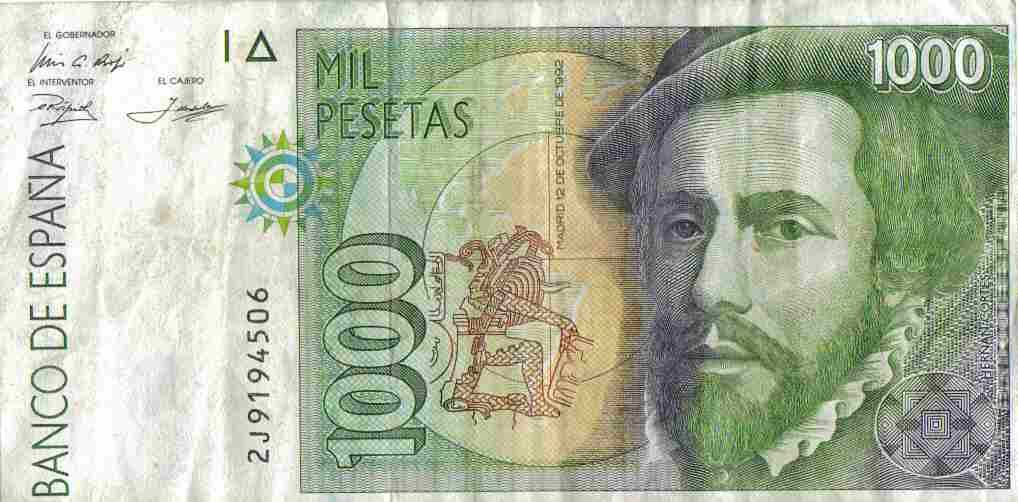 Spain Money S Former Currency The Peseta
