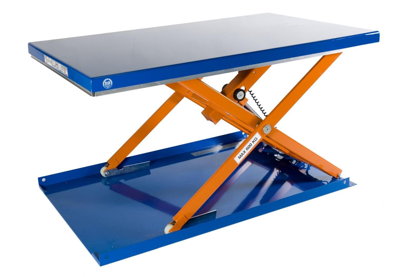 GTARDO.DE:  Flachform-Hubtisch, 600 kg, Maße 1500 x 900 mm, Hub 720 mm, 0,75 kW 3 666,00 €