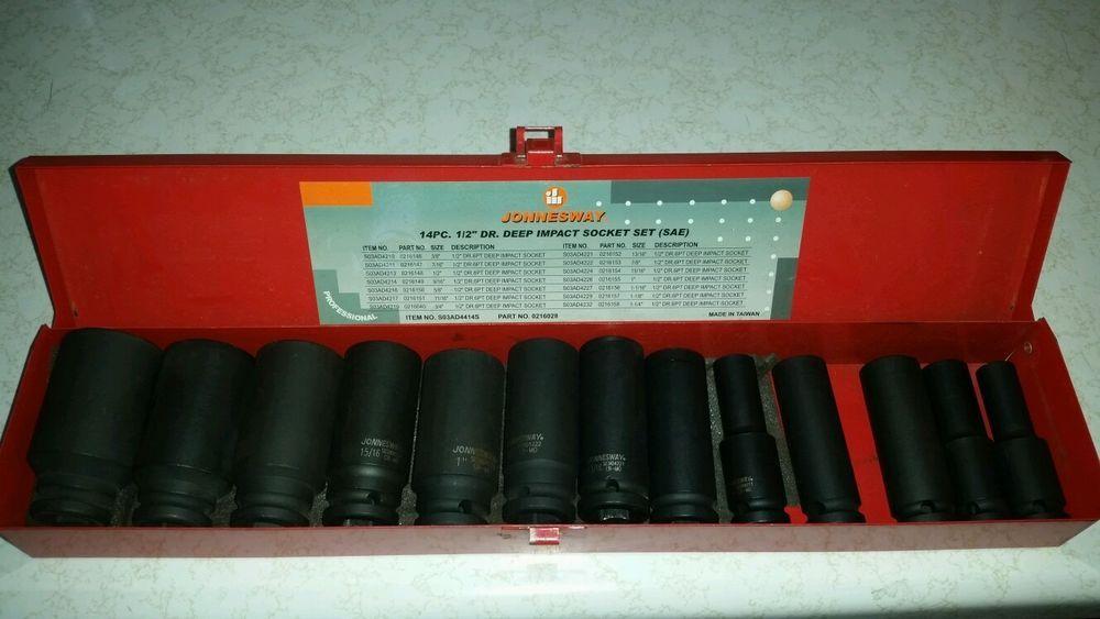 """Sunex 13pc 1/2""""dr Deep Impact SAE Socket set! #2651  ebay - $50"""