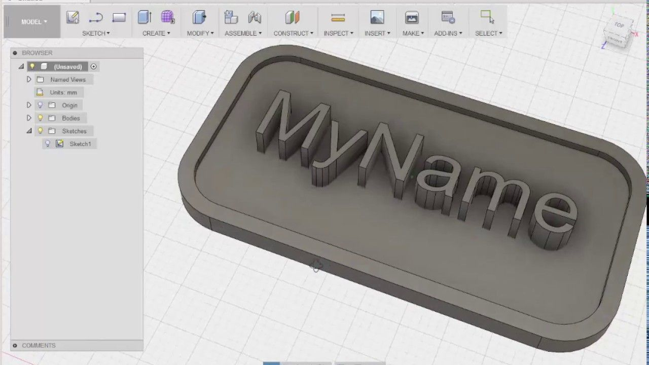 Fusion 360: Business Card for 3D Printing | 3D Printing | 3d