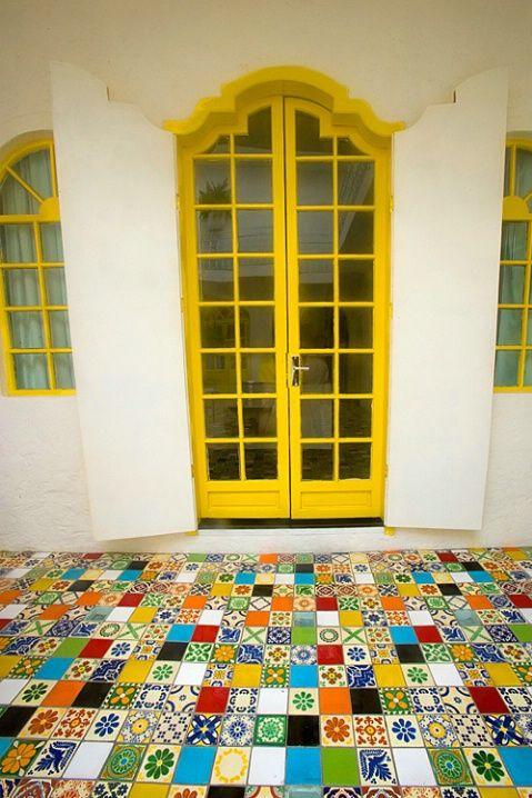 Gorgeous Architectural Details Including Fantastic Multi Tiled Porcelain Tiles In San Miguel De Allende Mexico