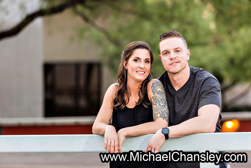 Fun Engagement Session Portrait Photo Ideas In Downtown Tucson Az Arizona Taken By Michael Chansley Photography