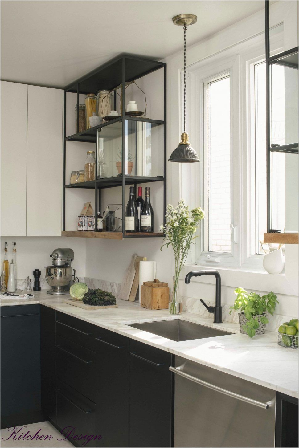 Kitchen Open Wall Shelving Stainless Wire Rack Steel Wall Mounted