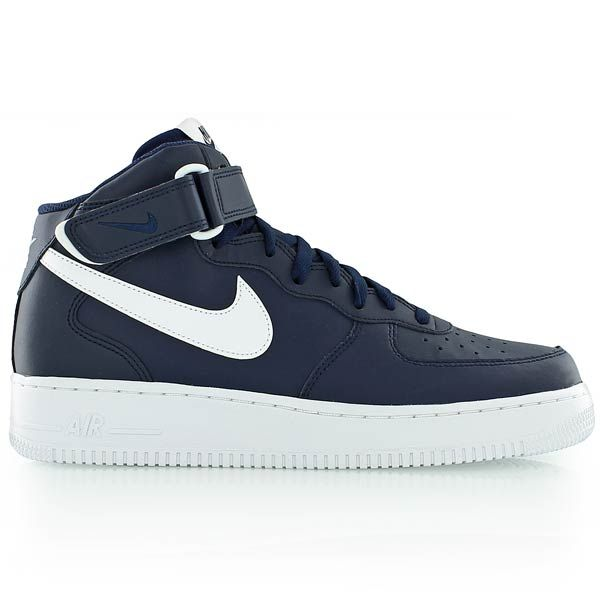 size 40 0bf93 df3d4 nike AIR FORCE 1 MID  07 MIDNIGHT NAVY WHITE-WHITE