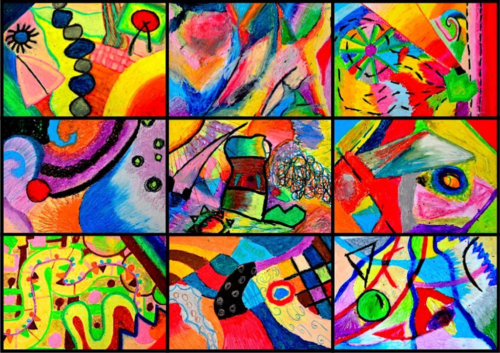 Emotions in abstract compositions | Abstract art projects, Abstract art lesson, Abstract art for kids