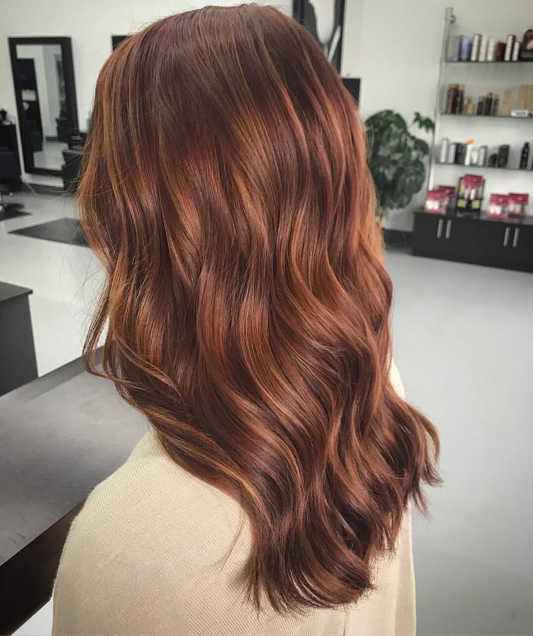 Copper Hues Brunette Balayage Hair Color Auburn Hair Styles Long Hair Styles