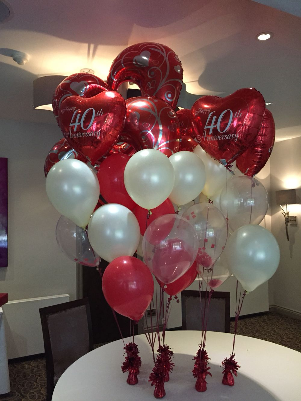 Ruby Wedding Balloon Bundle 40th Wedding Anniversary