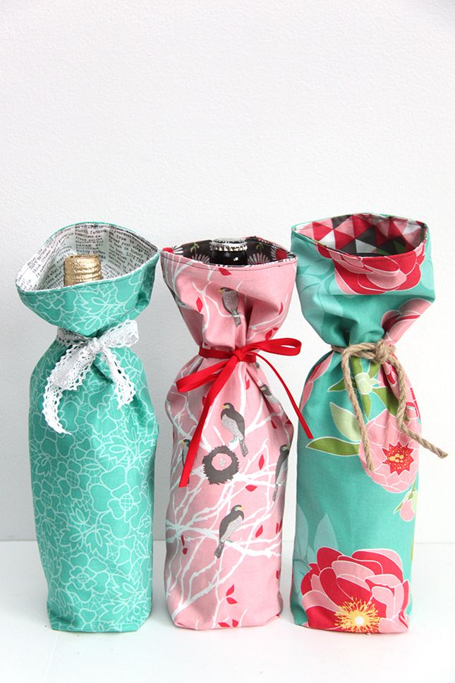 tutorial make a wine bag in 10 minutes wir diy n hanleitungen f r selbermacher n hen. Black Bedroom Furniture Sets. Home Design Ideas