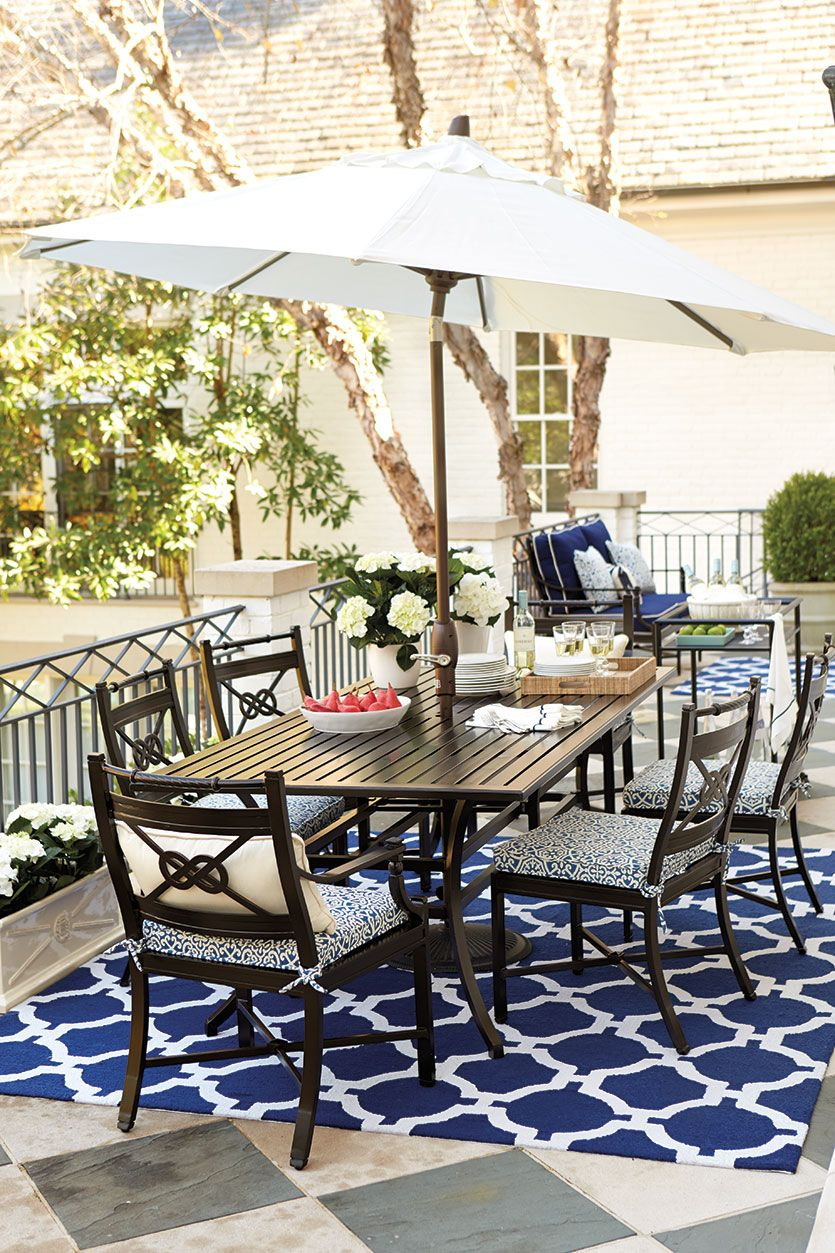 Decorating with Nautical Accents | Used outdoor furniture ... on Nautical Patio Ideas id=85897