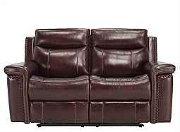 Lattimore Leather Power Loveseat Love Seat Power Reclining Loveseat Power Recliners