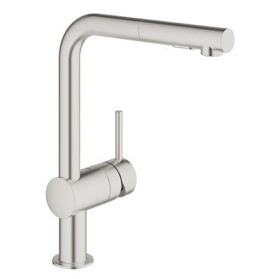 Grohe Minta Single Handle Pull-Out Kitchen Faucet Finish Super - grohe concetto küchenarmatur