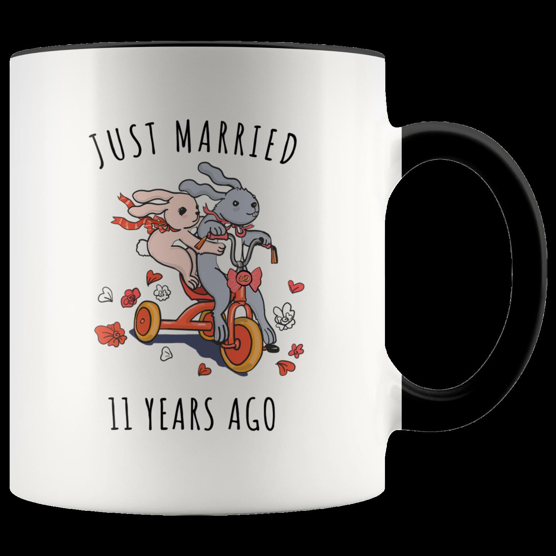 Just Married 11 Years Ago 11th Wedding Anniversary Gift Accent Mug Weddinganniversary