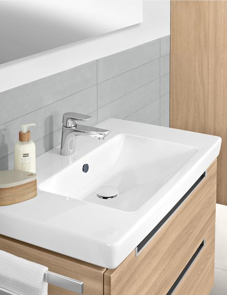 REUTER Shop Recommends: Villeroy U0026 Boch Subway Washbasin White, With  CeramicPlus, With 1 Tap Hole, Ungrounded, With Overflow ✓ With Best Price  Guarantee.
