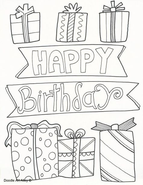 Birthday Coloring Pages (With images) | Birthday coloring ...