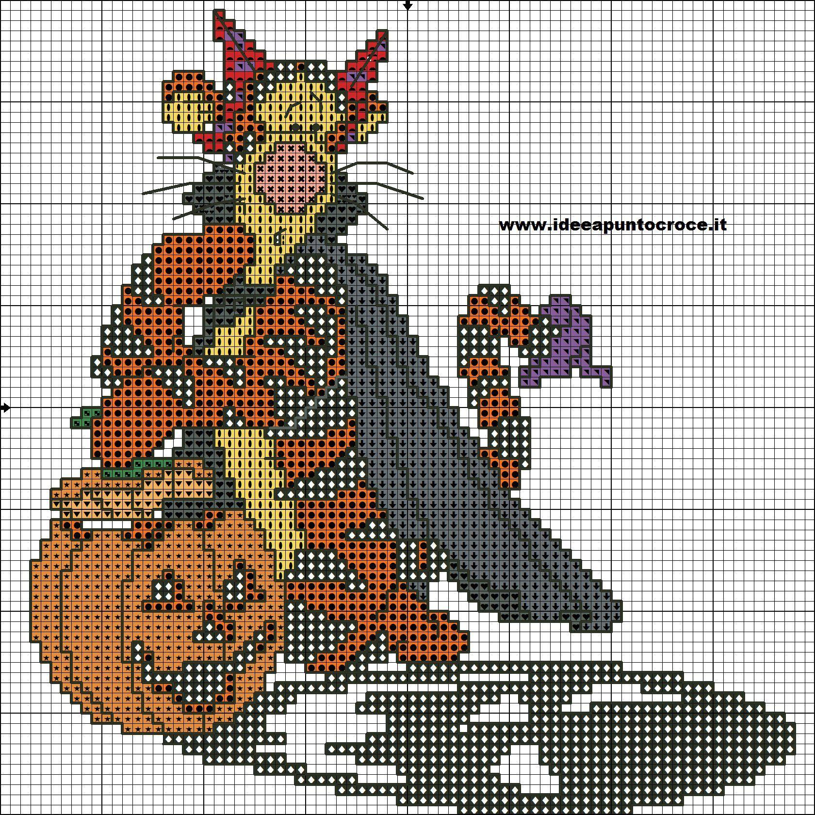 Halloween Tigger 1 Of 2 Cross Stitch Kids Fall